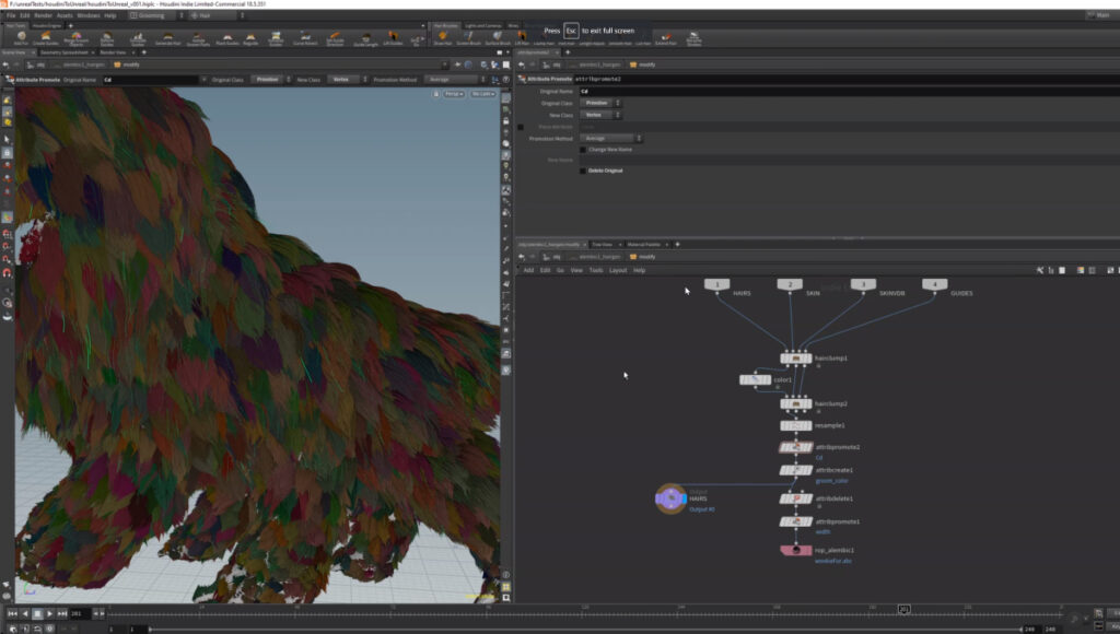 Export Hair/Fur from Houdini to Unreal
